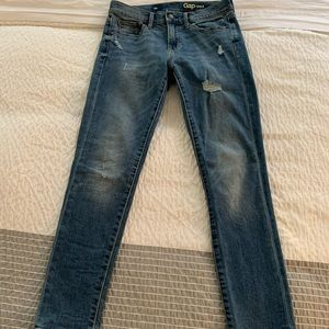 Distressed Gap Skinny Jeans